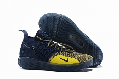 Nike KD 11 Shoes Dark Blue Yellow