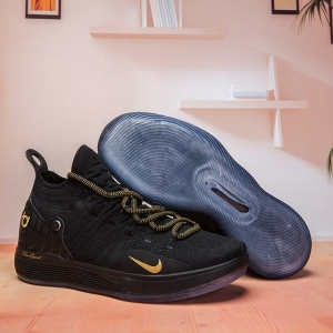Nike KD 11 Shoes Pure Black Gold