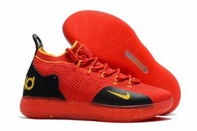 Nike KD 11 Shoes Red Black Yellow