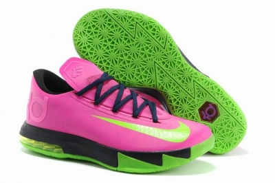 Nike KD 6 Shoes Cherry Red Green