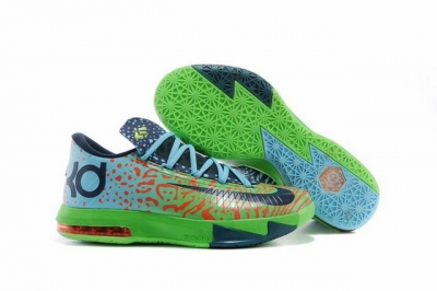 Nike KD 6 Shoes Green Black Red