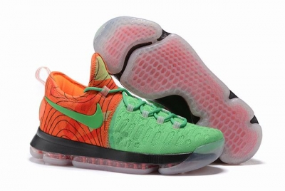 Nike KD 9 Shoes Grass Green Orange