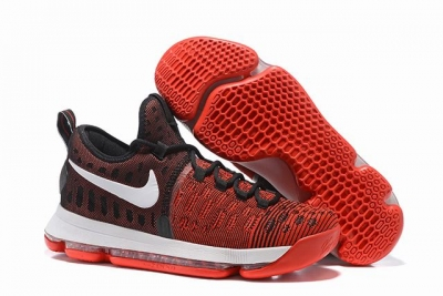 Nike KD 9 Shoes Red Black White