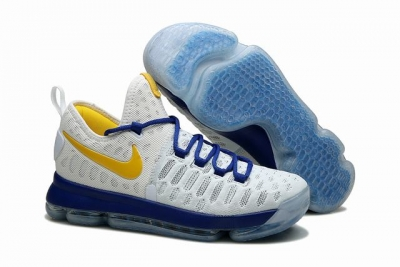 Nike KD 9 Shoes White Blue Yellow