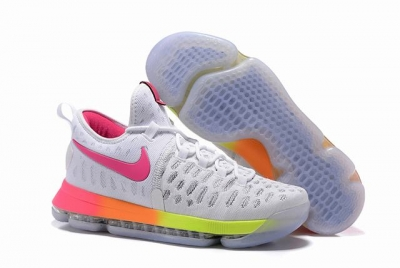 Nike KD 9 Shoes White Colors Pink
