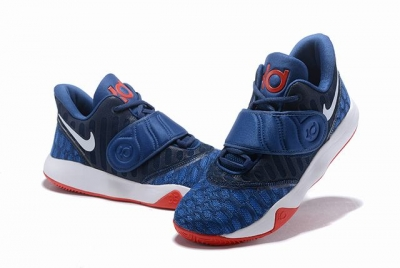 Nike KD Trey 5 VI  Weave Shoes Dark Blue Red