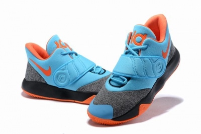 Nike KD Trey 5 VI Shoes Blue Grey Orange