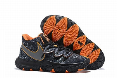 New Nike Kyire 5 Black Silver Orange