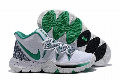 New Nike Kyire 5 White Green-logo