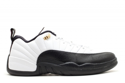 Air Jordan 12 Low White Black Taxi