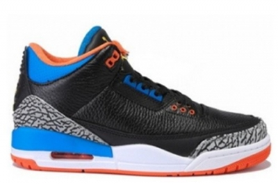 Air Jordan 3 OKC PE Black Blue Orange