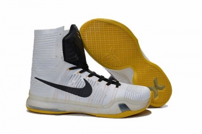 Kobe 10 Shoes Elite White Black Gold
