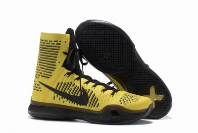 Kobe 10 Shoes Elite Yellow Black