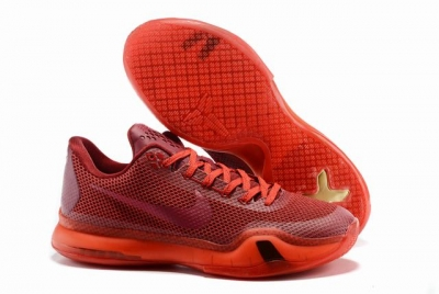 Kobe 10 Shoes Low China Red