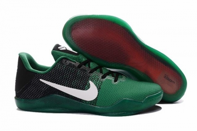 Kobe 11 Shoes Black Green White