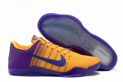 Kobe 11 Shoes Bruce Lee Yellow Purple