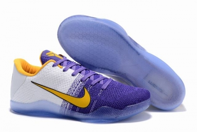 Kobe 11 Shoes Purple White Yellow