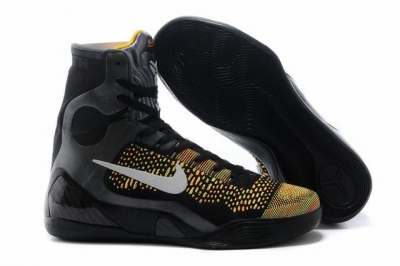 Kobe 9 Shoes Elite Black Yellow