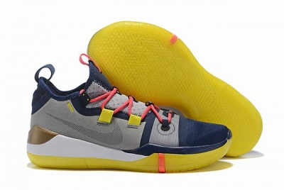 Nike Kobe AD EP Shoes Grey Blue Yellow
