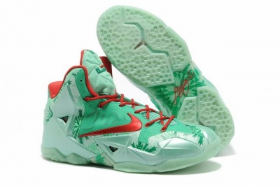 Nike Lebron James 11 Shoes Christmas Red